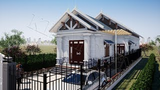Mẫu Nhà Cấp 4 Đẹp 3 Phòng Ngủ 170m2 Giá 800 Triệu Tại Lạc Sơn Hòa Bình