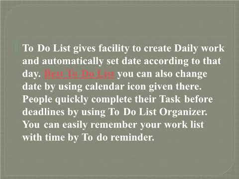 Best TO DO LIST - Simple Daily Routine Work and Task Organizer
