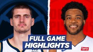 NUGGETS vs PISTONS FULL GAME HIGHLIGHTS | 2021 NBA SEASON
