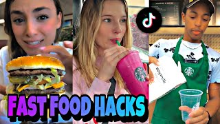 Fast Food Tik Tok hacks Challenge ! 🤯😍 McDonalds Life Hack