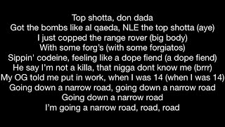 NLE Choppa feat. Lil Baby - Narrow Road (Official Music Video Lyrics)