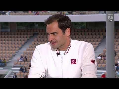 Roger Federer: 2019 Roland Garros First Round Win Tennis Channel Interview