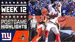Giants vs. Browns | NFL Week 12 Game Highlights