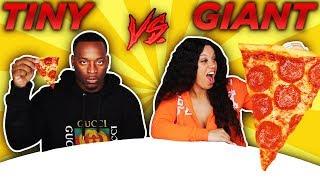 GIANT VS TINY CHALLENGE!