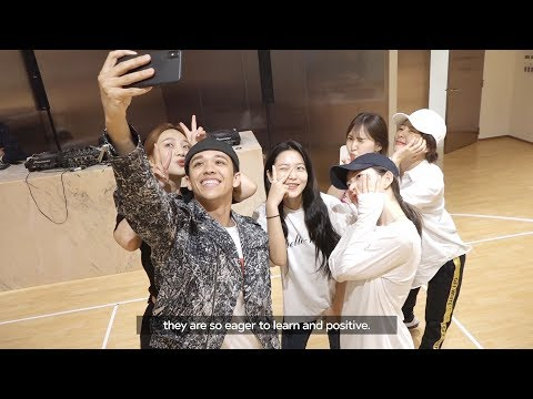 Red Velvet 'Power Up' Dance Practice Behind the Scenes with Kyle Hanagami (English Sub)