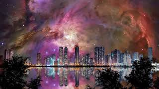 Heavenly Nebula - Cityscape at Night - Ambient Music for Sleep, Meditation, Relaxation