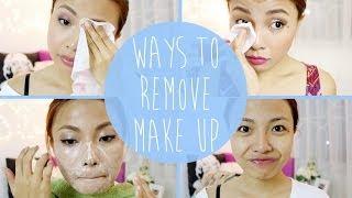 6 Ways to REMOVE Make Up!!