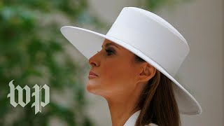 Melania Trump's fashion makes a statement during French visit