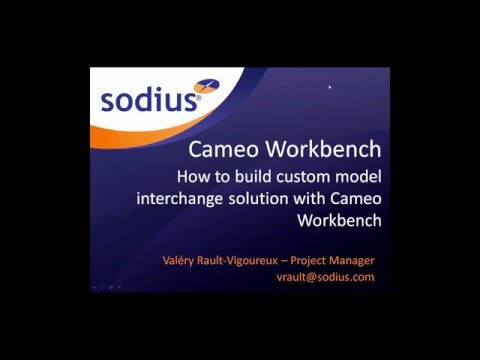 How to Build Custom Model Interchange Solutions with Cameo Workbench