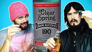 Irish People Try America's Strongest Alcohol (95%, 190 Proof)