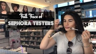 Full Face Using Sephora Testers?! | Yessi Waters