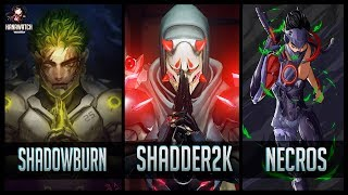 ShaDowBurn vs Shadder2k vs Necros - Gods of Genji 😱 | Overwatch Moments