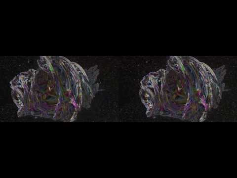 Mandelbulber Starship warps out of space Real 3D Stereoscopic Full HD with 3D Pop Out