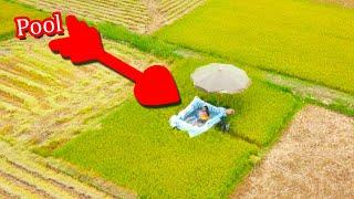 HAYZOtv Xây bể bơi & ăn tối giữa cánh đồng - Build swimming pool & dinner in the field