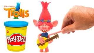 Trolls Poppy playing guitar Play Doh Stop Motion animation claymation