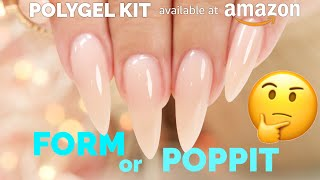 PolyGel (which is Hybrid Gel) with Dual Forms/Poppits and Paper Forms