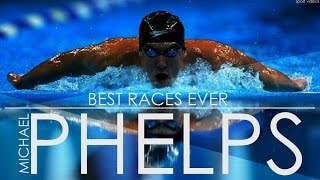 Michael Phelps BEST RACES EVER   MOTIVATION   TRAINING