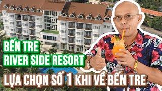 2 cháu gái xinh từ Hoa Kỳ về cũng phải mê mẩn superview của Bến Tre Riverside Resort