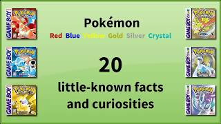 Pokemon R/B/Y/G/S/C - 20 little-known facts and curiosities