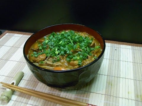 【HD recipe】 How to make curry soba  カレーそば