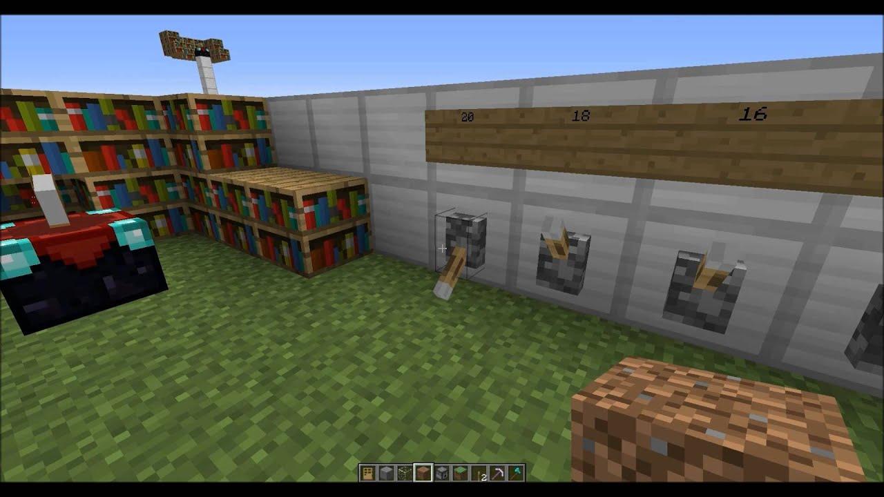 Minecraft Adjustable Enchanting Room Tutorial Change The