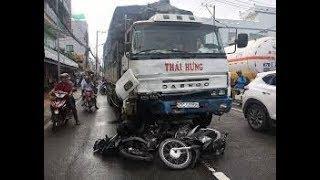 Tai nạn giao thông mới nhất ở An Giang: Xe tải điên tông hàng loạt xe máy 11 người bị thương nặng