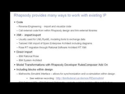 Importing Models and Design into Rational Rhapsody
