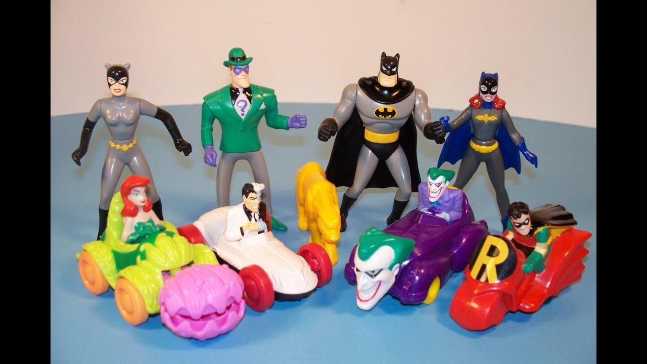 1993 Mcdonald S Batman The Animated Series Set Of 8 Happy