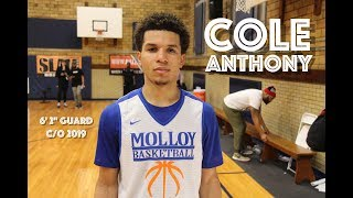 """COLE ANTHONY 6' 2"""" PG c/o 2019 ARCHBISHOP MALLOY HS (Highlights)"""