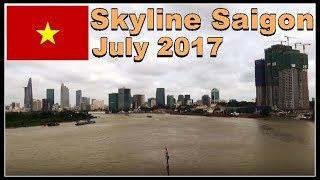 Saigon Skyscrapers / Skyline July 2017 / beautiful Ho Chi Minh City, Vietnam