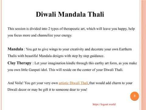 Diwali Mandala Thali - Logout World