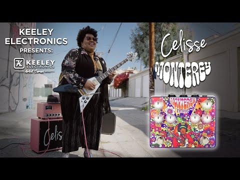 Keeley Monterey Celisse Fuzz Vibe Rotary Wah Guitar Effects Pedal