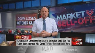 Jim Cramer advised investors be ready for a 'rocky week' after Dow drops 650 points