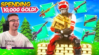 How I Spent 10,000 Gold Bars in ONE MATCH! (All 5 Exotic Weapons)