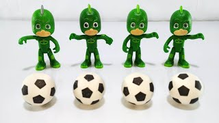 Learn Colors with Pj Mask Toys for Kids. Super Wings Toys. Colorful Soccer Balls.