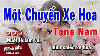 Karaoke Một Chuyến Xe Hoa Tone Nam Nhạc Sống   Trọng Hiếu