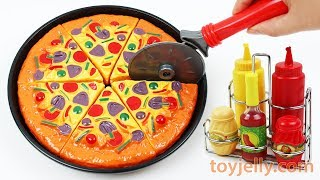 Play Doh Pizza Microwave Oven Velcro Cutting Baby Toys Learn Fruits Vegetables Birthday Cake Rhymes