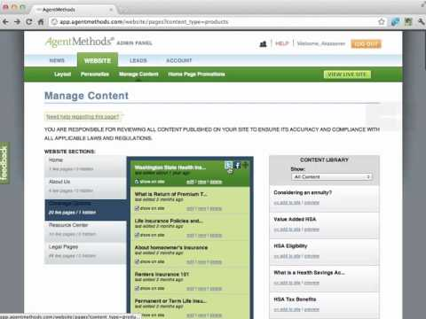 New: Share your Insurance Website on Facebook and Twitter