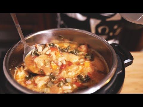 ITALIAN BREAD SOUP - Instant Pot