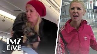 Tara Reid Goes Nuts On A Plane! | TMZ Live