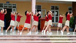 """Dân vũ:""""Nhớ ơn thầy cô""""-Tiểu học Chu Văn An Nam Định"""