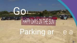 Famous beach in Malta Golden Bay