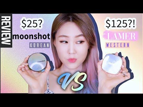 $25 KOREAN VS. $125 WESTERN?! 🤔 I Compared Moonshot to La Mer's Cushion Foundations | meejmuse