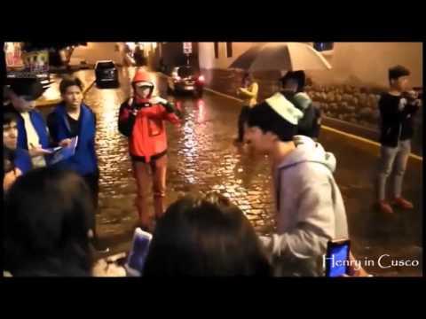 【FAN CAM】160225 Dancing for Henry in Cusco~