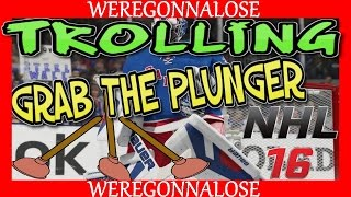 NHL 16 Hockey Online Team Play Reactions - Tell Me Good Save, and Mom Grab The Plunger (PS4)