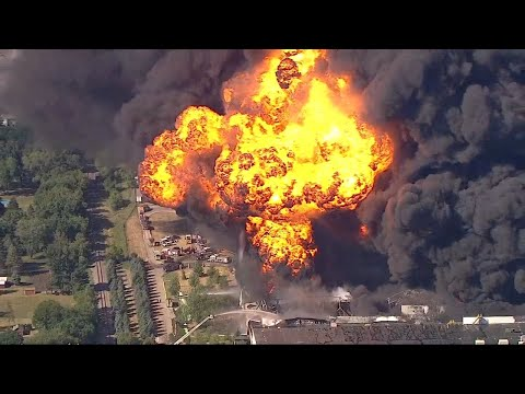 LIVE: Massive fire burning at chemical plant in Rockton, Ill.