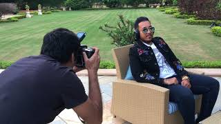 Magazine photoshoot behind the scenes with celebrity singer