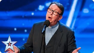 Father Ray Kelly takes us to church with AMAZING version of 'Everybody Hurts' | Auditions | BGT 2018