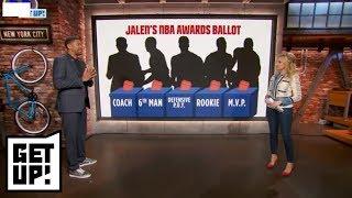 Jalen Rose picks his NBA Award winners, including James Harden as MVP | Get Up! | ESPN