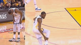 Kevin Durant Hurts His Leg & Seems To Be An Achilles Injury In Game 5! Rockets vs Warriors